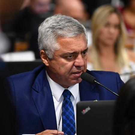 Senador Major Olimpio, com covid-19, participa de sessão em leito de hospital -  Edilson Rodrigues/Agência Senado