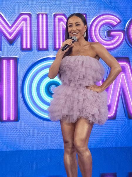 """Sabrina Sato no """"Domingo Show"""". Programa terminou sem entregar o prêmio. - Marcus Godoy/Record TV."""