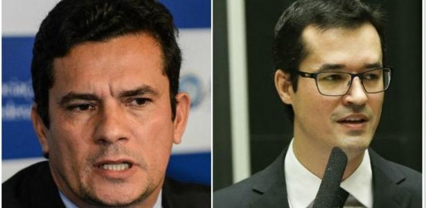 O juiz Sergio Moro e o procurador da Lava Jato Deltan Dallagnol