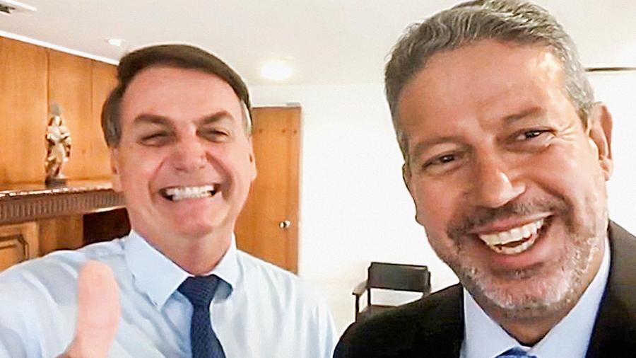 Bolsonaro e o presidente da Câmara, Arthur Lira  - Reprodução