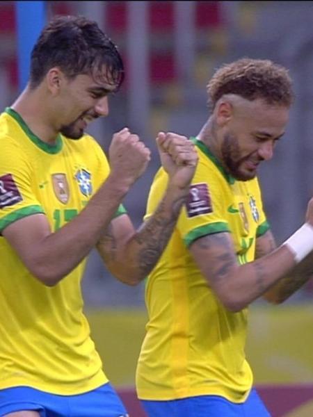 Jogadores da seleção brasileira (Reprodução/TV Globo). - Reprodução / Internet