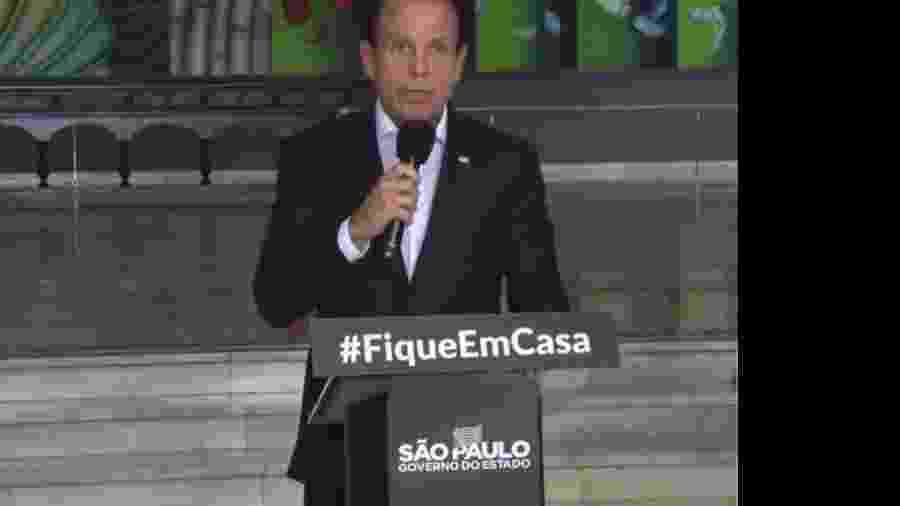 Governador João Doria - Divulgação
