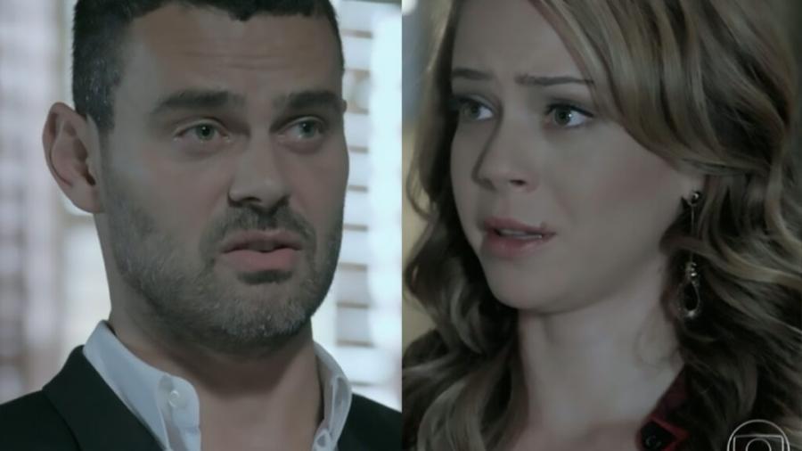 Maurílio (Carmo Dalla Vecchia) e Cristina (Leandra Leal) (Reprodução/Globo) - Reprodução / Internet