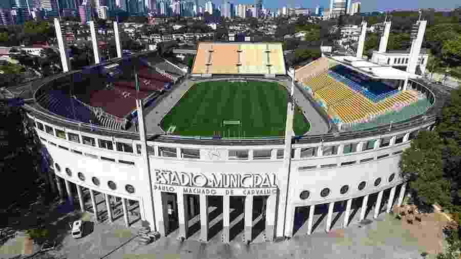 Pacaembu recebe partida deste domingo porque Allianz Parque está alugado para shows - Marcelo D. Sants/Framephoto/Estadão Conteúdo