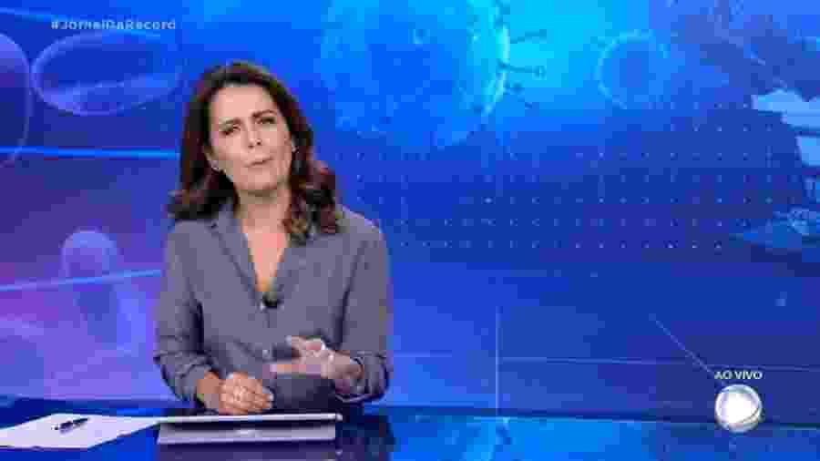 """Adriana Araújo foi apresentadora do """"Jornal da Record"""" por mais de uma década, entre 2006 e 2009 e de 2013 a 2020 - Reprodução / Internet"""