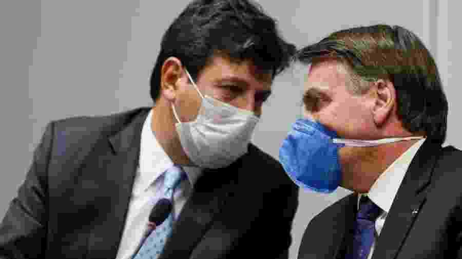 Mandetta e Bolsonaro: o ministro foi salvo pelo coronavírus - Agência Brasil