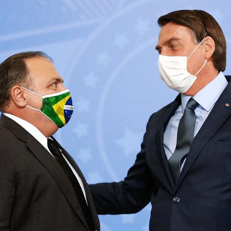 Jair Bolsonaro e Eduardo Pazuello em evento - Carolina Antunes/PR