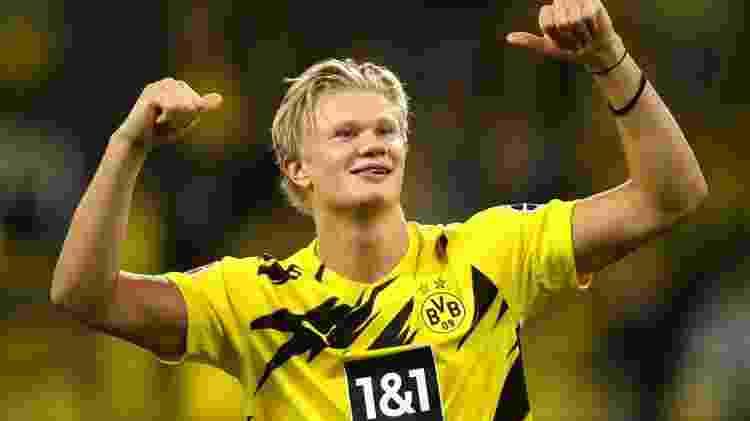 Haaland pode sair do Borussia Dortmund e reforçar Barcelona e Real Madrid - GettyImages - GettyImages