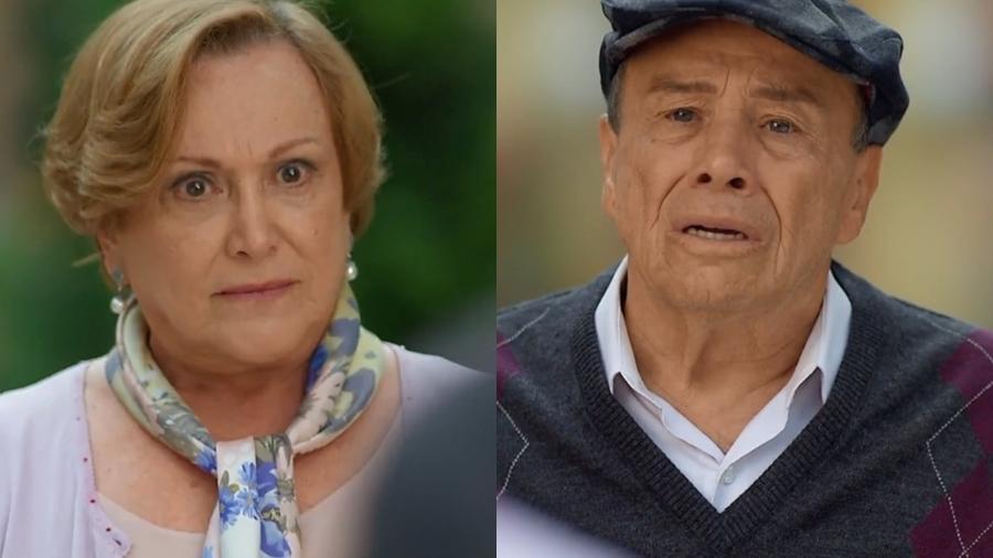 Iná e Laudelino em A Vida da Gente (Reprodução: Globo) - Reprodução / Internet