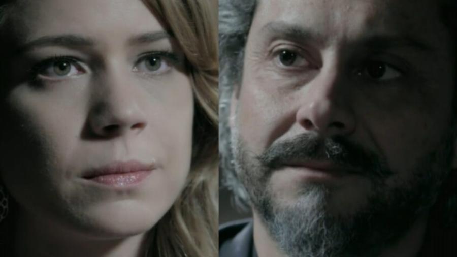Cristina (Leandra Leal) e José Alfredo (Alexandre Nero) em Império (Reprodução/Globo) - Reprodução / Internet
