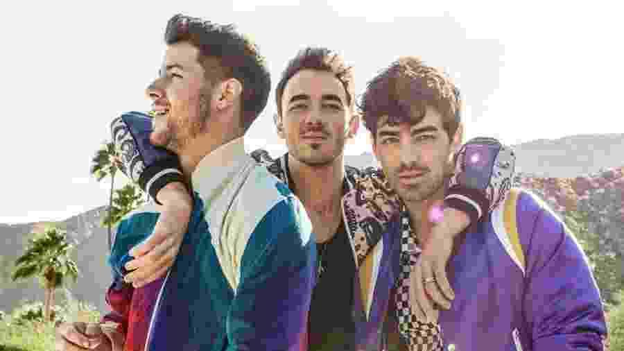 O trio de irmãos Jonas Brothers - Reprodução