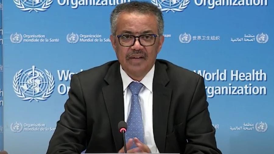 """""""Alguns países ouviram o alerta há 1 ano, outros, não"""", lamenta chefe da OMS - Reprodução/ OMS"""