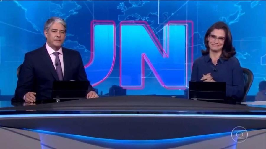 William Bonner e Renata Vasconcellos apresentam o Jornal Nacional, da TV Globo                              - Reprodução