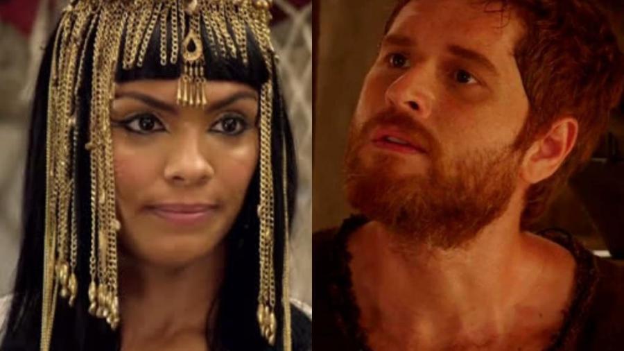 Lidi Lisboa e Cirillo Luna é Maalate e Esaú em Gênesis (Reprodução / Record TV) - Reprodução / Internet