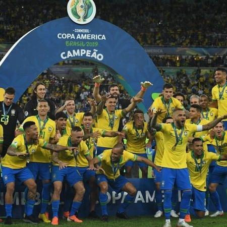 Seleção Brasileira comemora o título da Copa América-2019, mas luta pelo bi ficou para 2021 - GettyImages