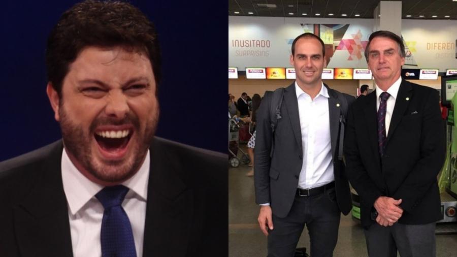 Danilo Gentili, Eduardo Bolsonaro e Jair Bolsonaro (Divulgação - SBT - Reprodução - Instagram)  - Reprodução / Internet
