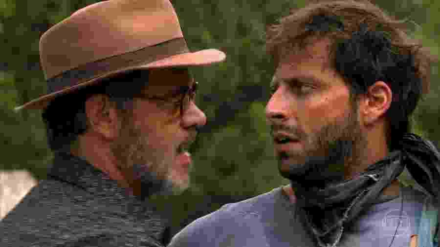 Duque (Jean Pierre Nohen) e Cassiano (Henri Castelli) em Flor do Caribe (Reprodução/TV Globo). - Reprodução / Internet