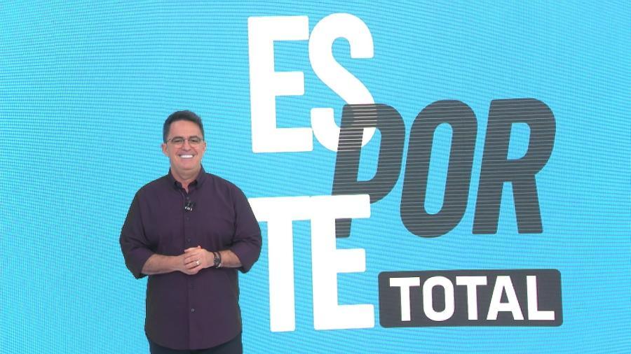 """Fernando Fernandes no """"Esporte Total"""": jornalista renovou com a Band até 2023 - Divulgação/Band"""