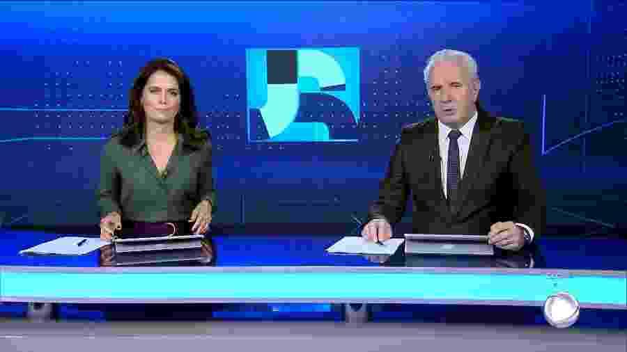 Adriana Araújo e Celso Freitas no Jornal da Record - Reprodução