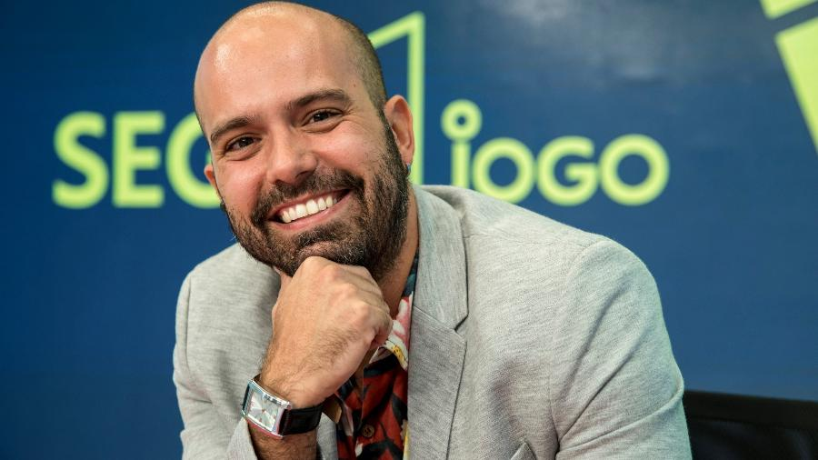 """Lucas Gutierrez apresenta o """"Segue o Jogo"""", pós-jogo da Globo nas noites de quarta - Globo/Camilla Maia"""