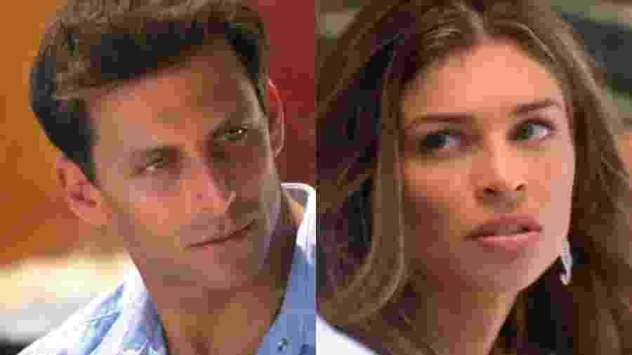 Cassiano (Henri Castelli) e Ester (Grazi Massafera) de Flor do Caribe (Reprodução - TV Globo) - Reprodução / Internet