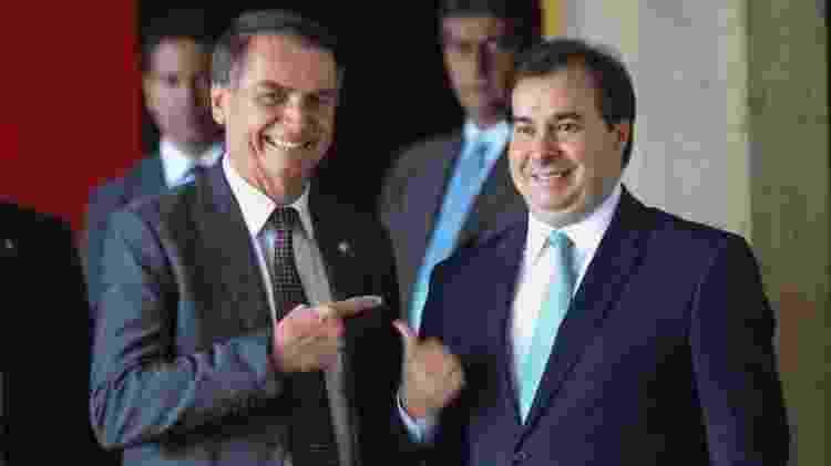 Jair Bolsonaro e Rodrigo Maia - Antonio Cruz / Agência Brasil