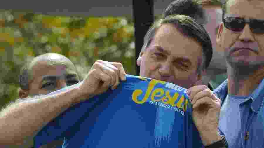 Bolsonaro discursa ao lado de pastores evangélicos na Marcha para Jesus de Brasília - Marcello Casal Jr/Agência Brasil