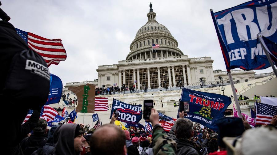 EUA podem apresentar denúncias de conspiração sediciosa em investigação de invasão ao Capitólio - Imagem: Samuel Corum (Getty Images)