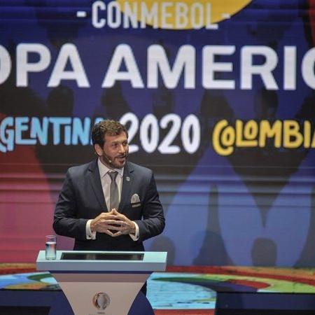 Evento de sorteio dos grupos da Copa América 2020, adiada para 2021 - Getty Images
