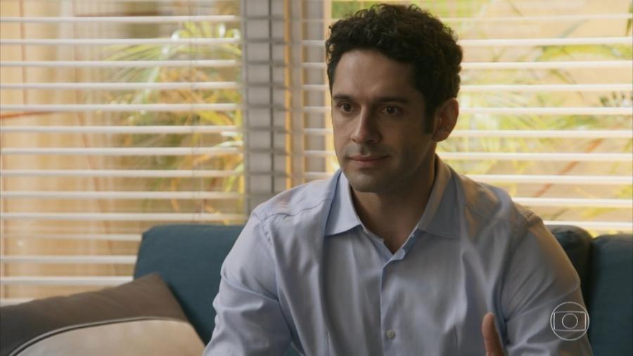Beto (João Baldasserini) em Haja Coração (Reprodução/TV Globo). - Reprodução / Internet