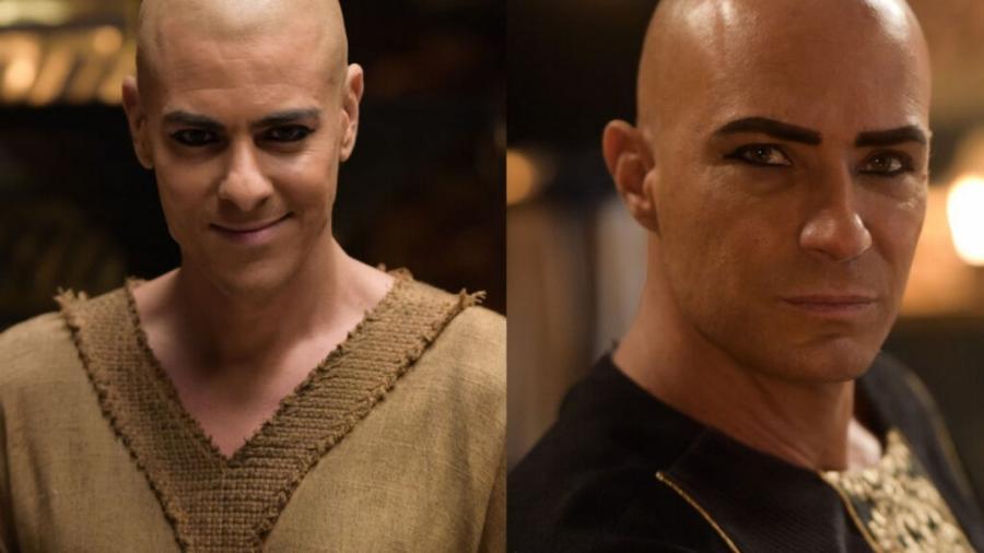 Atarum (Sacha Bali) e Sheshi (Fernando Pavão) em Gênesis (Reprodução/Record TV) - Reprodução / Internet