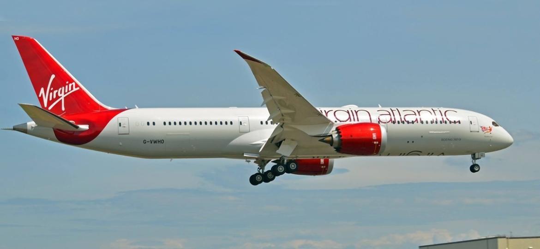 Os voos da Virgin para São Paulo será operados com jatos Boeing 787-9 Dreamliner (Divulgação) - 787_virgin