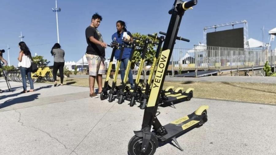 Patinetes da Yellow; dívidas da empresa somam R$ 40 milhões - Gazeta Online