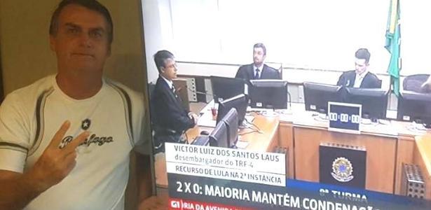 """Bolsonaro comparou condenação de Lula a um """"tiro na corrupção"""""""