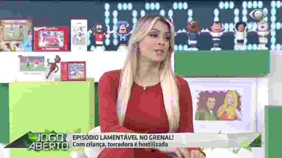 Renata Fan no Jogo Aberto (Reprodução/Band) - Renata Fan no Jogo Aberto (Reprodução/Band)