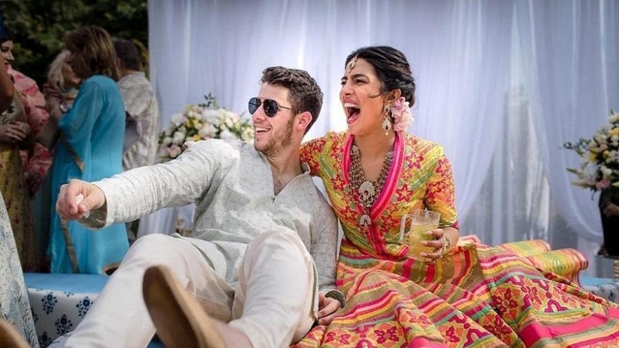 Foto do segundo dia de casamento de Nick Jonas e Priyanka Chopra, na Índia -