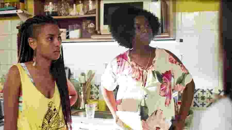 Jaqueline (Gabz) e Vânia (Olívia Araújo) em Malhação (Reprodução/TV Globo). - Jaqueline (Gabz) e Vânia (Olívia Araújo) em Malhação (Reprodução/TV Globo).
