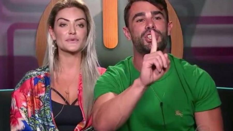 Laura Keller e Jorge Sousa no Power Couple Brasil - Reprodução/RecordTV