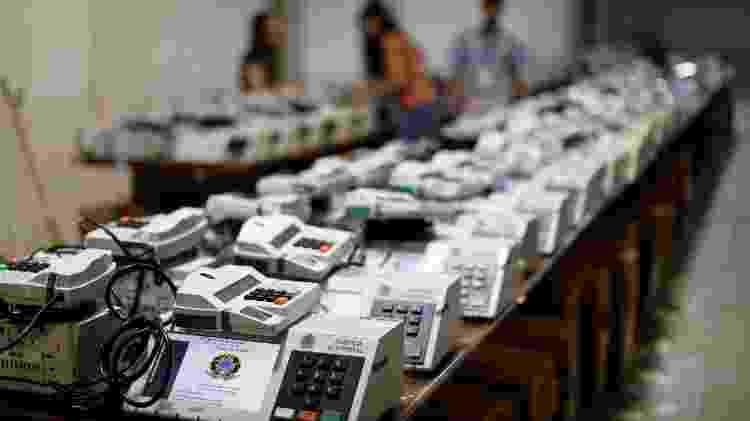 Urnas eletrônicas usadas na eleição de 2018 - Rodolfo Buhrer/Reuters - Rodolfo Buhrer/Reuters