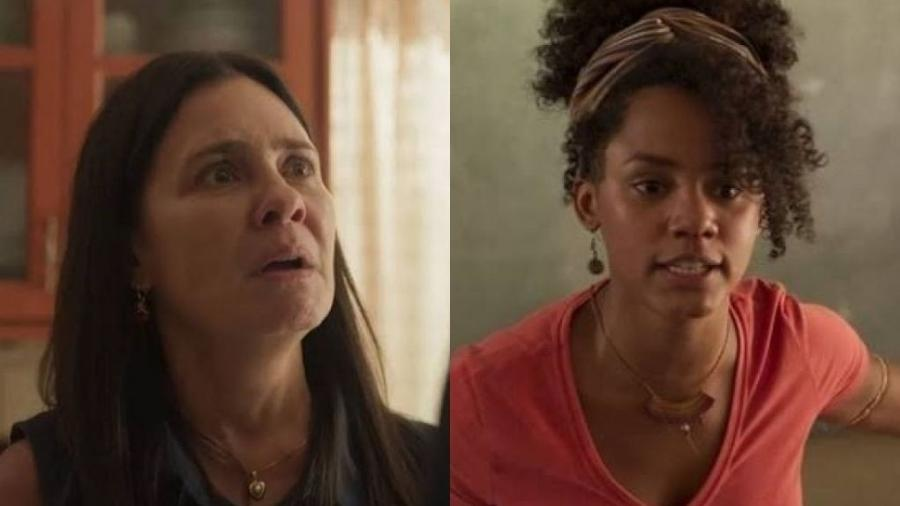 Thelma (Adriana Esteves) e Camila (Jéssica Ellen) de Amor de Mãe (Reprodução/TV Globo) - Reprodução/TV Globo