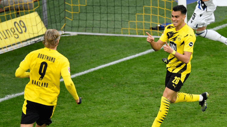 Haaland e Renner festeggiano il Borussia Dortmund - GettyImages - GettyImages