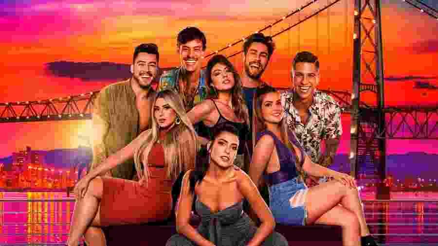 """O elenco do """"Soltos em Floripa"""", reality show da Amazon - Divulgação"""