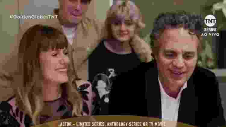 Mark Ruffalo e família no Globo de Ouro - Reprodução/TNT - Reprodução/TNT