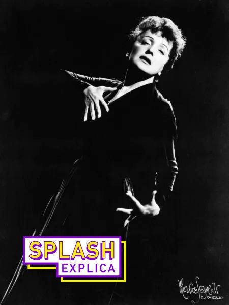 A cantora francesa Édith Piaf (o sobrenome é lido exatamente como se escreve) - Bettmann Archive