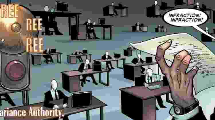 A instituição burocrática TVA, nos quadrinhos da Marvel - Reprodução/ Disney + - Reprodução/ Disney +