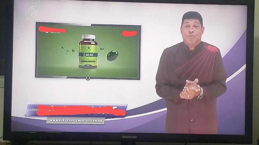 Valdemiro Santiago faz propaganda para suplemento alimentar na TV - Reprodução