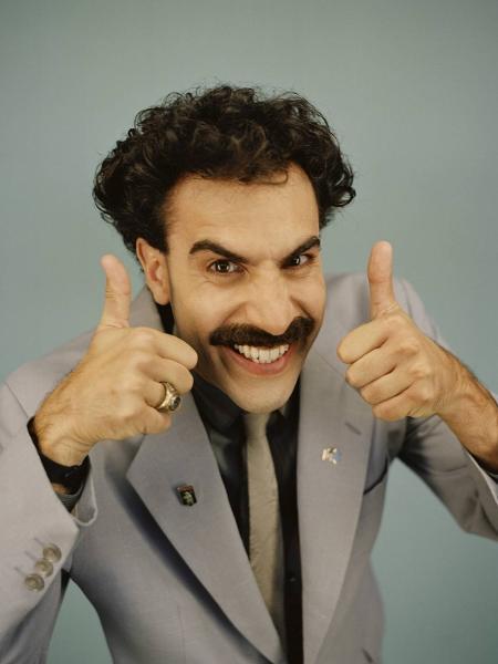 """Sacha Baron Cohen levou Globo de Ouro por """"Borat: Fita de Cinema Seguinte"""" - Reprodução"""