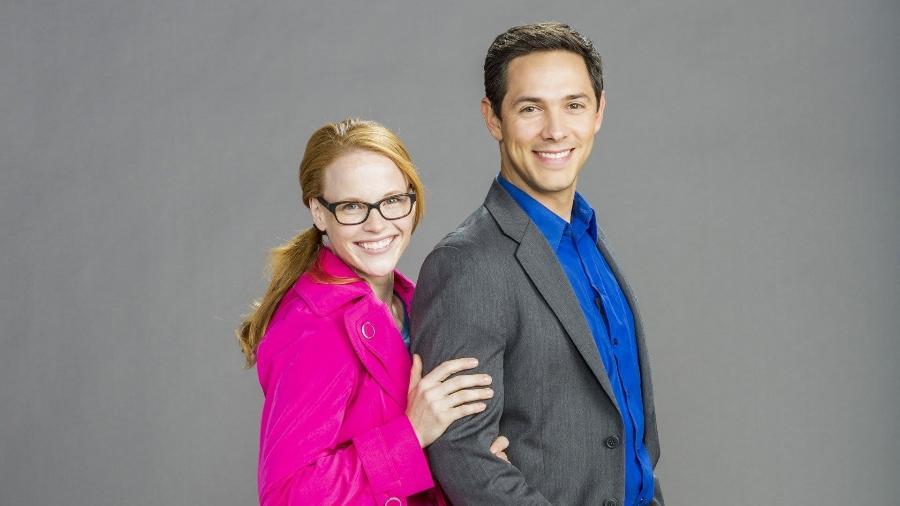 """Katie Leclerc e Michael Rady estrelam hoje """"Nublado Com uma Chance de Amor"""", no canal Lifetime - Reprodução/Lifetime"""
