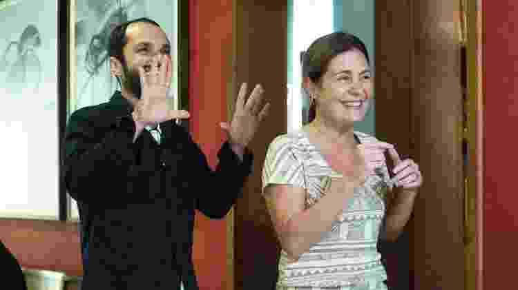 O diretor José Luiz Villamarim e a atriz Adriana Esteves - Divulgação - Divulgação