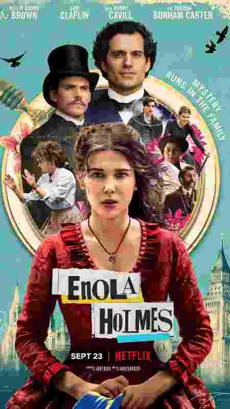 enola holmes cartaz - divulgação/Netflix - divulgação/Netflix